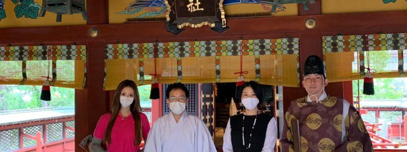 手作りマスク奉納に伴う浅草神社正式参拝