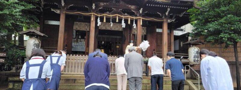 神社de献血 [中目黒八幡神社] (目黒区)